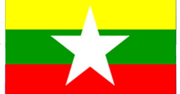 Flag Of Myanmar Myanmar Flag Northern Region Myanmar