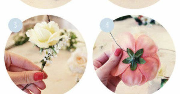 DIY your own spring flower crown for flower girl
