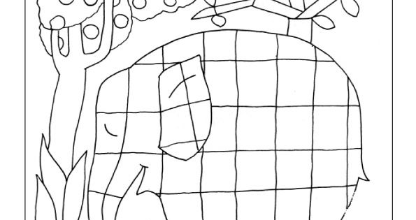 kleurplaat elmer  kleuters thema kleurenelmer de olifant
