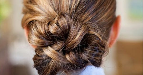 celebrities fashion hairstyles; messy bun in a very chic style