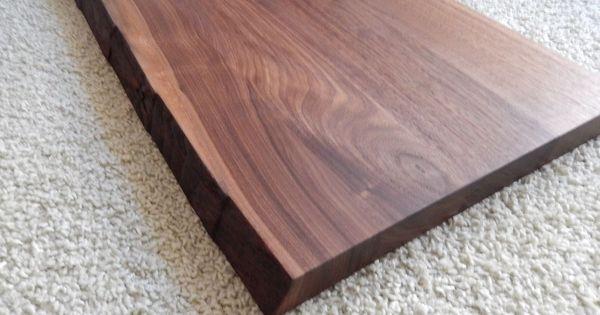 details zu tischplatte platte nussbaum massiv holz mit baumkante neu tisch brett leimholz. Black Bedroom Furniture Sets. Home Design Ideas