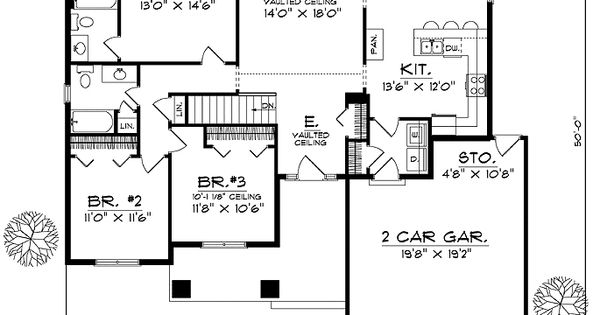 House Floor Plan For 81098 Ranch House Plans 1537 Sq Ft