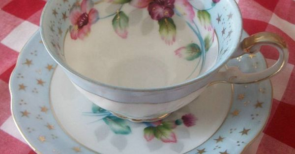 Antique Vintage Hand Painted Shafford Bone China Cup