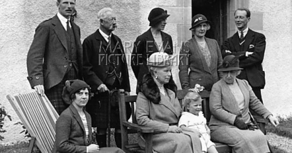 Princess Maud, now Lady Maud Carnegie (sitting left) and ...