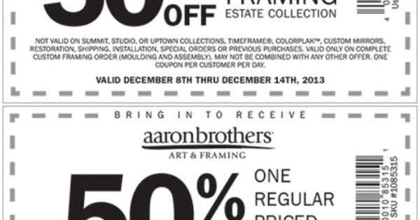 Aaron brothers frames coupons : Famous footwear store coupons 2018