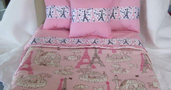 Cute 5 Piece American Girl 18 Quot Doll Bedding Paris Theme 3