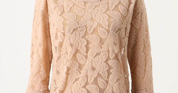 Brushed Lace Pullover by Eloise: $68 - pretty, maybe in a different