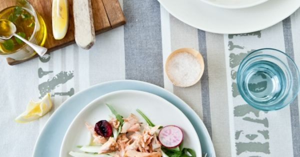 Grilled salmon, fennel, radish & cherry salad | Foodie Yumms ...