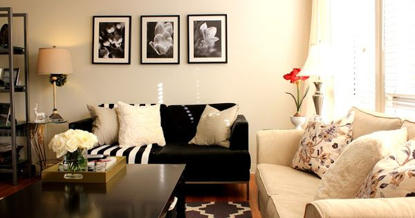 grey black cream and tan living room inspiration