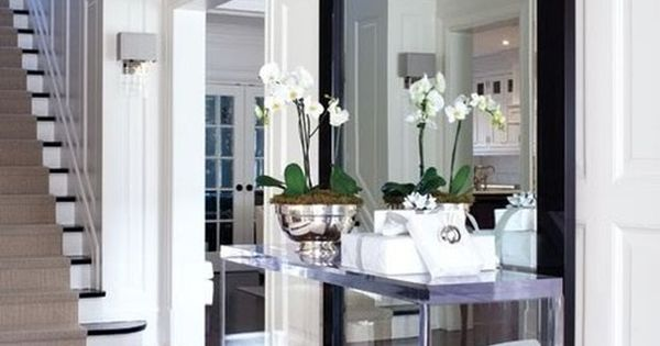 Stylish Foyer and Entryway Ideas - Don't like table but love big