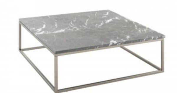 En Gris Clair Assortie A La Table A Manger Decouvrez Fly Bran Table Basse Carree 100x100 Cm Metal Marbr Table Basse Carree Mobilier De Salon Table Design