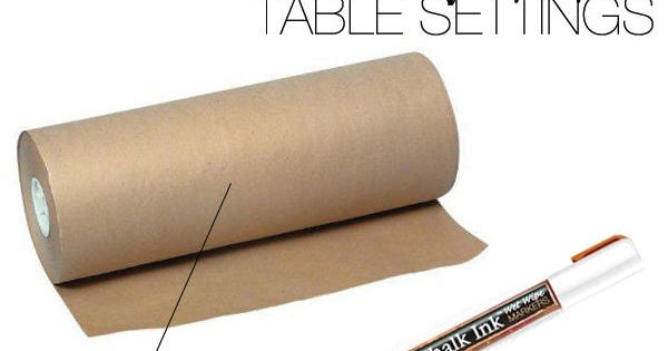 I like the casual look and simplicity of the craft paper table