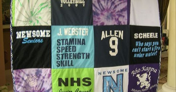 t shirt quilt (would be so cool to do with high school