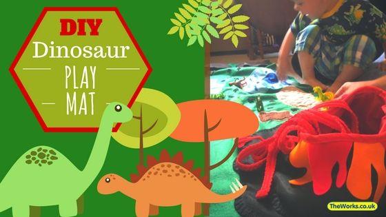 How I Made A Felt Dinosaur Play Mat For My Son Dinosaur Play Diy Busy Books Felt Diy