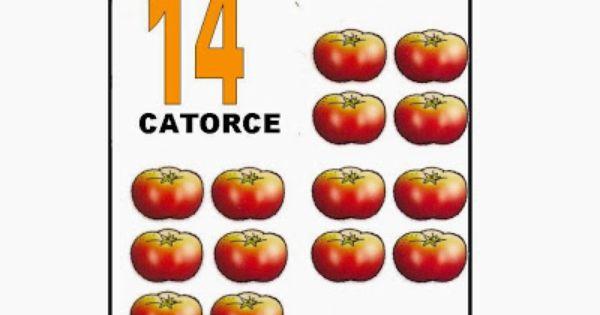 Número catorce, 14. Con tomates. | El mundo de los números. Para ...