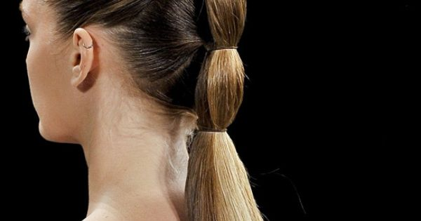 Aveda Inspired Sleek Ponytail Updo | For appointments at Stewart & Company