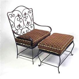 Wrought Iron Patio Furniture Ottoman