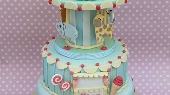 Playing Animals Party Cake gumpaste, fondant, royal ...