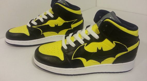 Batman jordans | Shoes | Pinterest | Batman, Etsy and Bat man