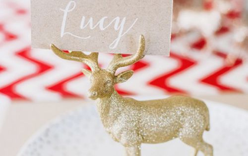 Glitter Animal Place Card Holder | 35 Cute And Clever Ideas For