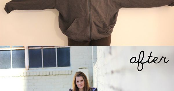 "This is GREAT!! Now... I need a sewing machine! [seekatesew@blogspot.com] ""Sweatshirt Liposuction"""