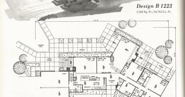 Vintage House Plans Western Ranch Houses Always Fun To Go