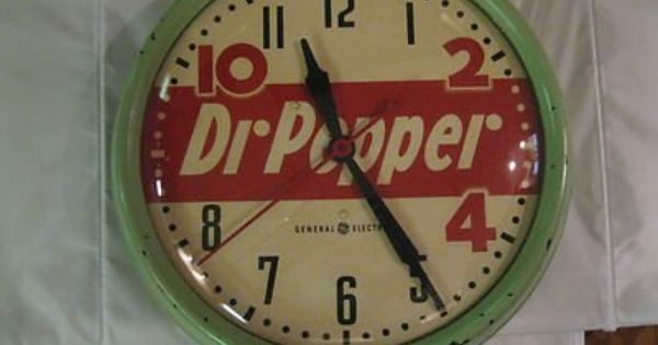 Dr Pepper Clocks For Sale Dr Pepper Clock By General Electric From 1950 S Used New For Sale Vintage Clock Advertising Clocks Clock