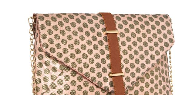 polka dot over-sized envelope clutch handbag fashion accessories