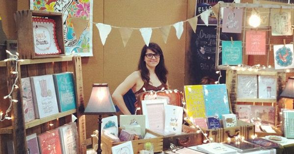 At Renegade Craft Fair Austin working my booth :) by ello lovey,