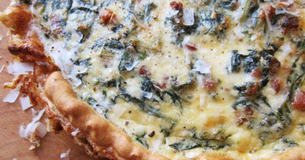 Hearty Chard, Pancetta, and Pecorino Quiche | Recipe | Quiche, Quiche ...