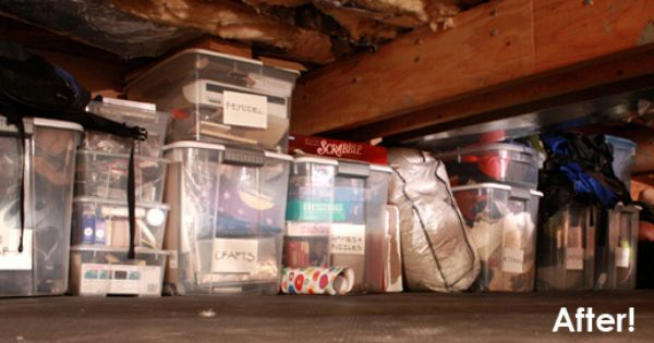 How To Make The Most Of A Crawl Space Crawlspace Crawl Space Storage Diy Crawlspace