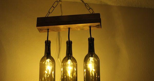 Lamparas recicladas con botellas de vidrio buscar con - Como hacer lamparas con botellas de vidrio ...