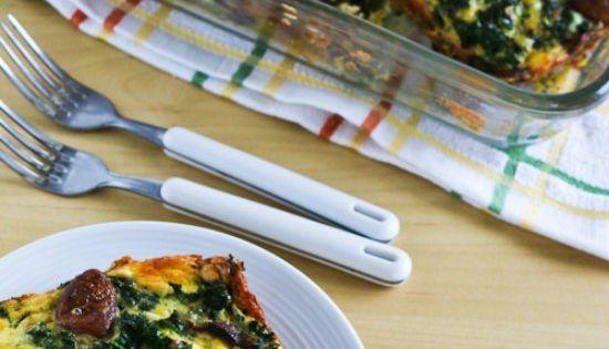 Kale, Mushroom, Feta, and Mozzarella Breakfast Casserole | Breakfast ...