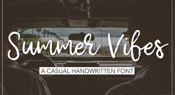 Summer Vibes Script font – ideal for branding and decorate any projects