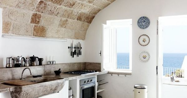 Kitchen in Puglia, Italy via Kinfolk | Remodelista Dream holiday home kitchen