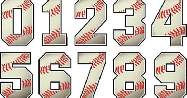 Baseball Numbers Designs Silhouette Pinterest
