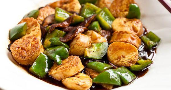 Tofu, Tofu food and Brown sauce on Pinterest