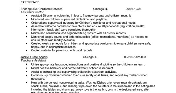 Resume For Child Care Background Resume Redo Pinterest   Child Care  Attendant Sample Resume  Child Care Resumes
