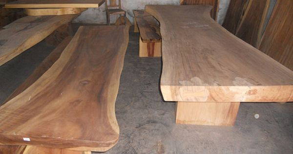 Large Natural Curve Suar Wood Table Slabs From Bali Slab Dining