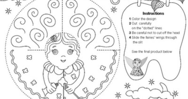 Tooth Fairy Craft Fairy Coloring Pages Fairy Crafts Tooth Fairy