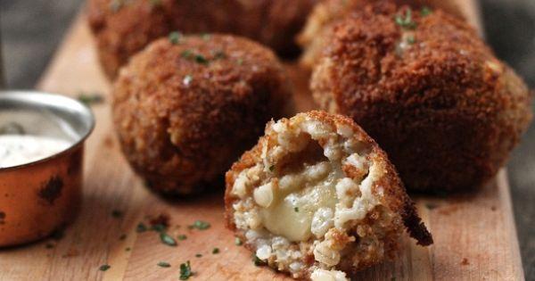 Barley Risotto Balls of crunchy yumm! - I wonder if I could
