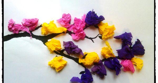 branche d 39 arbre printani re bricolage printemps fleurs bourgeons activit enfant printemps. Black Bedroom Furniture Sets. Home Design Ideas