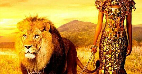 Warrior Queen with Lion.... | Black art | Pinterest ...