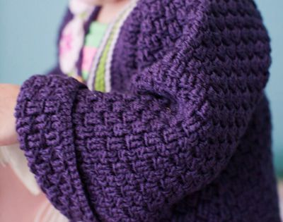 Free Crochet Baby Coat Pattern (more like a robe or long sweater