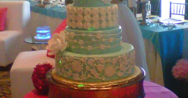 wedding cakes tampa fl light blue fondant wedding cake with piped lace and 25601