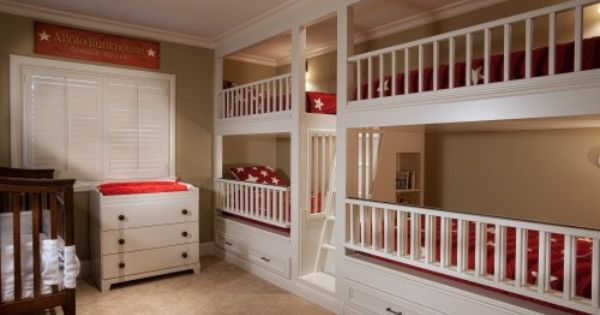 I love this idea for a kids room or guest room
