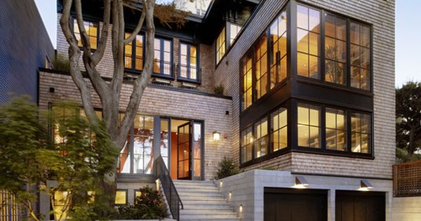 Russian Hill residence, San Francisco. Charlie Barnett Associates. Like the black. Windows.