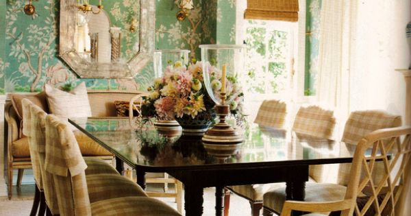 Mark d sikes dining room in los angeles as featured in for Mark d sikes dining room