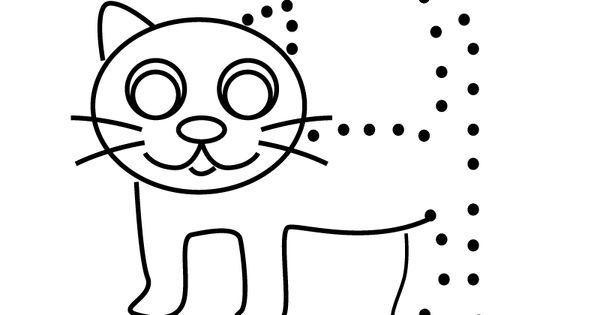 pre k dot to dot coloring pages | Cat Connect the Dots Activity Printable. | School ...