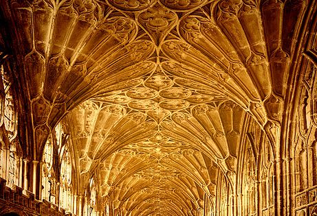 Gloucester Cathedral, England. the ceiling detail:)